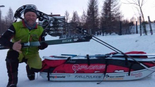 Antonio de la Rosa batió récord en la Lapland Extreme Challenge de Finlandia