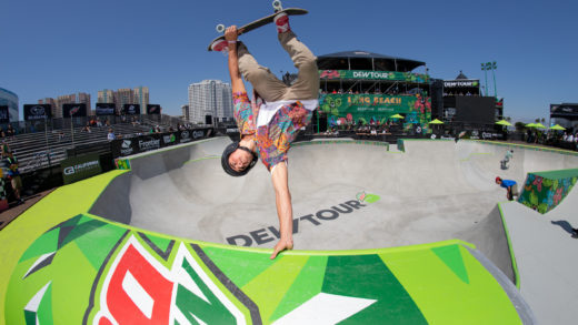 day one: the 2019 dew tour skateboard competition kicks off with open qualifiers and women's park quarter finals at the first ever global olympic qualifying event in the u.s.