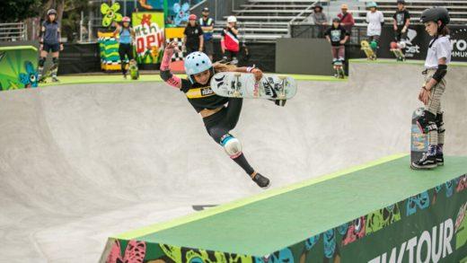 Dew Tour Summer 2019 primer evento de calificación olímpico global en USA para el skateboarding presenta a sus socios