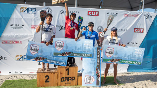 Luiz Diniz e Izzi Gómez se llevan la victoria en la 2da parada de la APP World Tour Surfing en Long Beach NY
