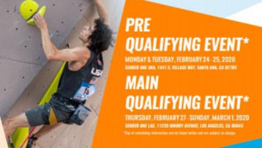 El Campeonato Panamericano de escalada inicia en Los ángeles del 24 de febrero al 1 marzo