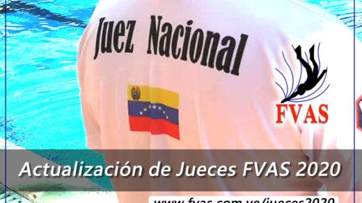 La Federación Venezolana de Actividades Subacuáticas convoca a la actualización de datos de Jueces 2020