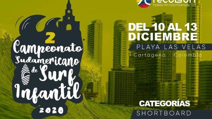 Colombia acogerá segundo Campeonato Sudamericano de Surf Infantil 2020